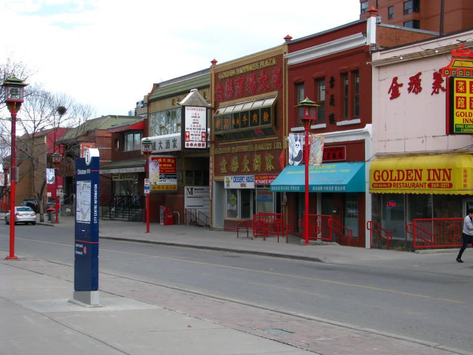 Čínská čtvrť v Calgary downtown