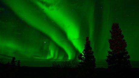 polární záře kanada