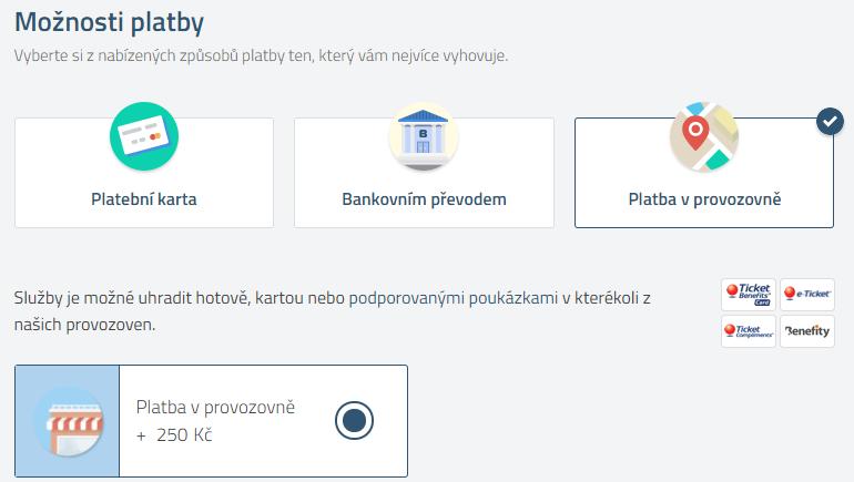 Platba za letenku na pobočce u Letuška.cz