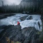 Rozhovor Martina Gebarovská - Mlha nad Natural Bridge, Kanada 2017, selfportrait