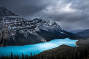 Rozhovor Martina Gebarovská - Peyto lake před sněhovou bouří, Kanada 2015