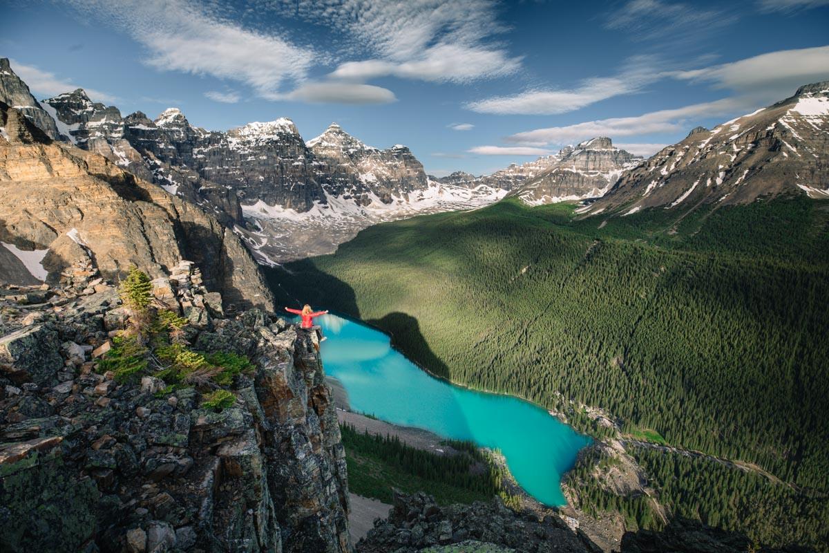 Rozhovor Martina Gebarovská, rozhovor o Kanadě - Peyto lake, selfportrait