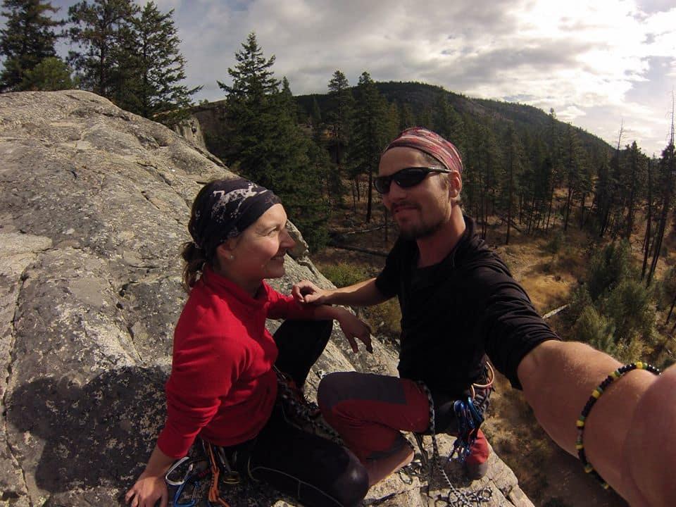 Lezení na skalách v Kanadě