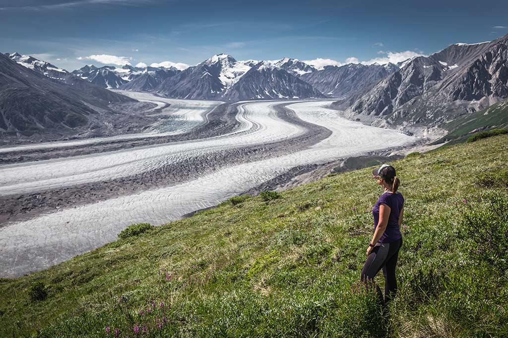 Výhled na Kaskawulsh Glacier