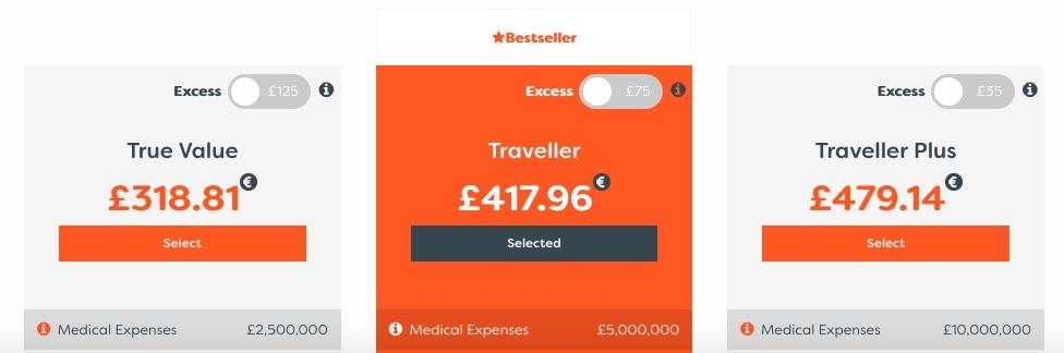 true traveller cena pojištění
