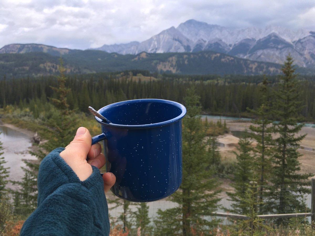 Snídaně v Banffu