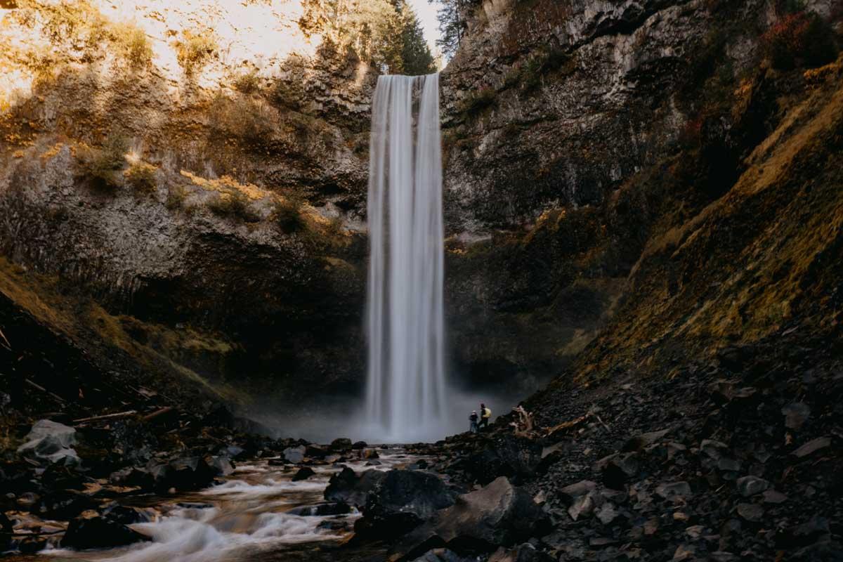 Rozhovor Gabi in Wanderland Kanada-Brandywine-falls