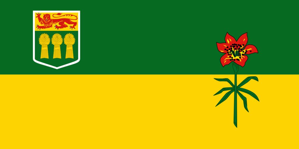 Vlajka provincie Saskatchwan