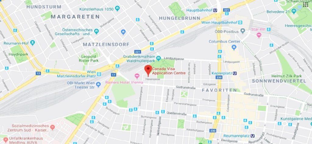 Mapa Vídně
