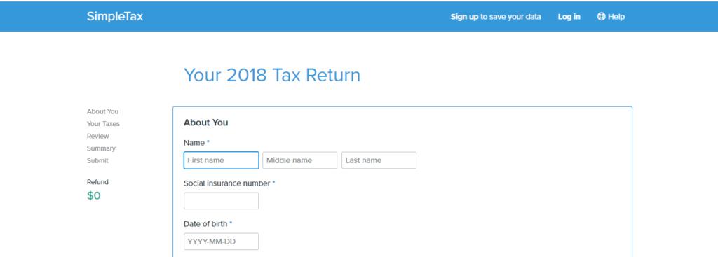 Online vyplnění daňového přiznánípřes Simpletax