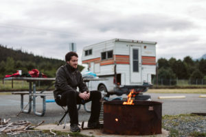Freecamping na odpočívadle Seward, Aljaška