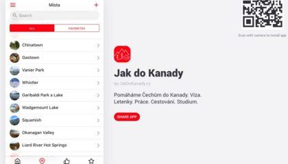 mobilní aplikace kanada
