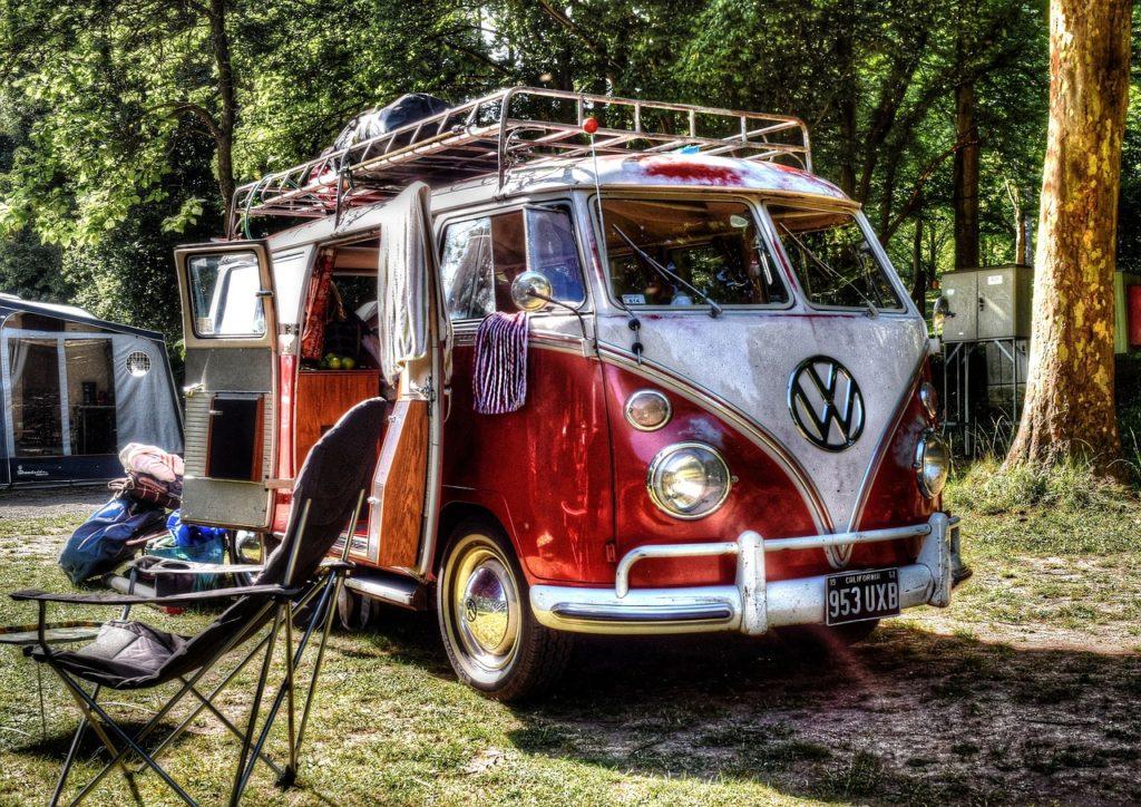 Camper van v Kanadě