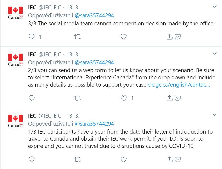 IEC twitter - platnost POE prodloužení - koronavirus