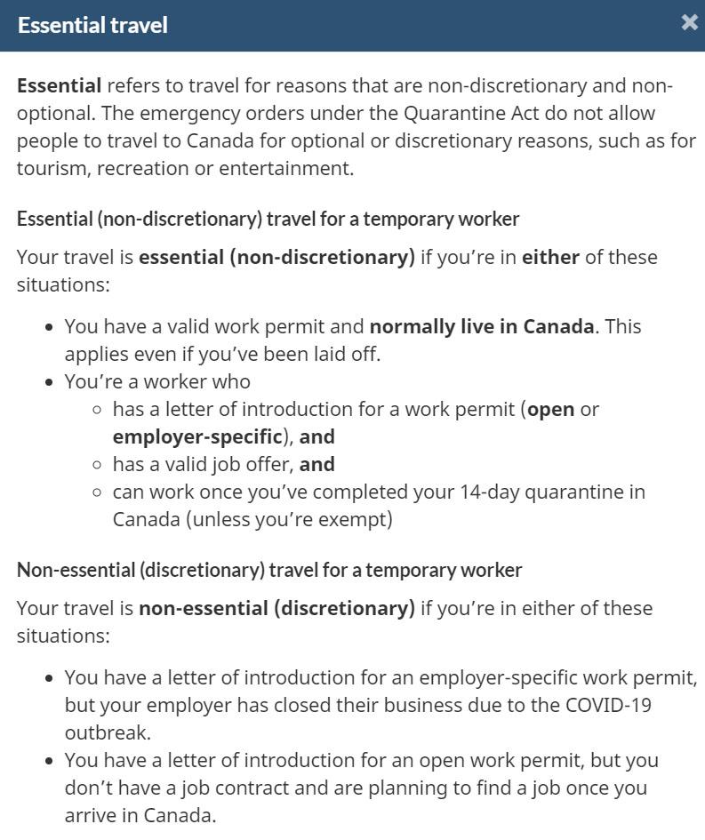 Nezbytný důvod pro cestu do Kanady na WH
