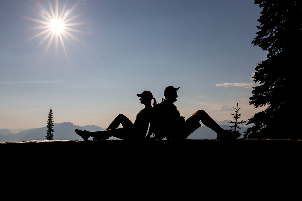 Západ slunce v Mount Revelstoke NP
