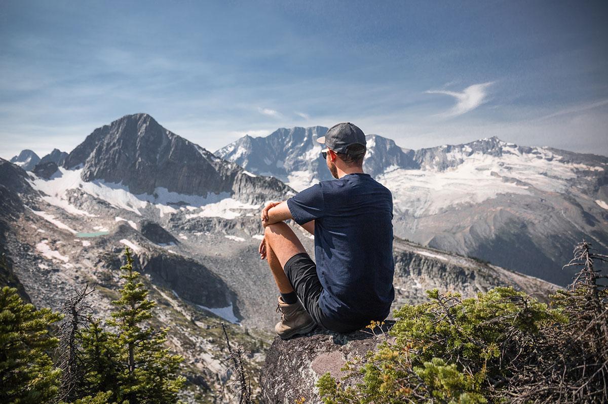 Národní park Glacier - na vrcholku Abbott Ridge