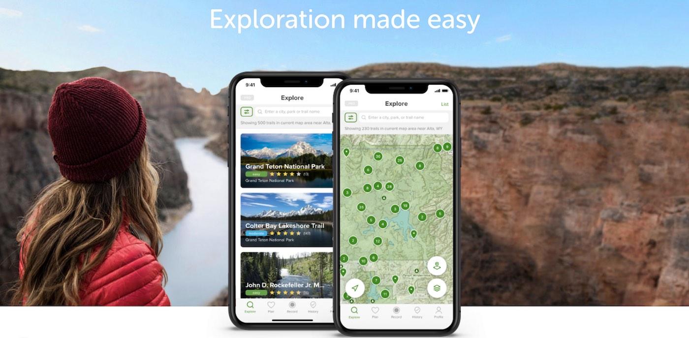 alltrails mobilní aplikace pro cestování