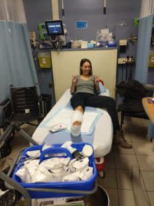 Kristýna po operaci
