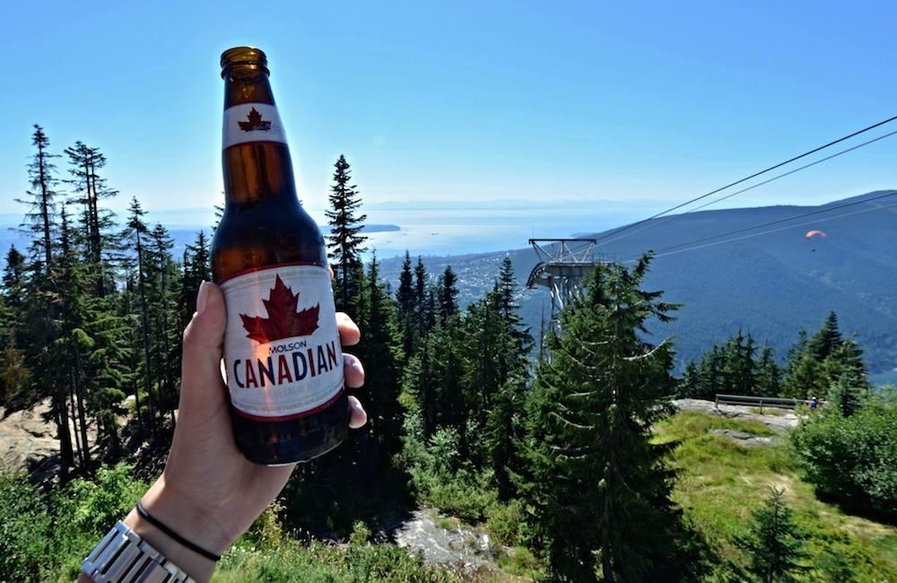Canadian pivo v Kanadě hory