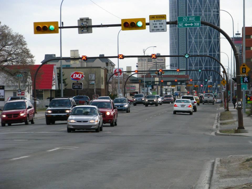 Center street rozděluje Calgary na NE a NW