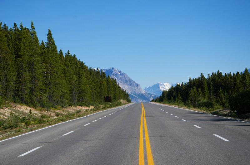 Dálnice mezi Banff a Jasper Kanada