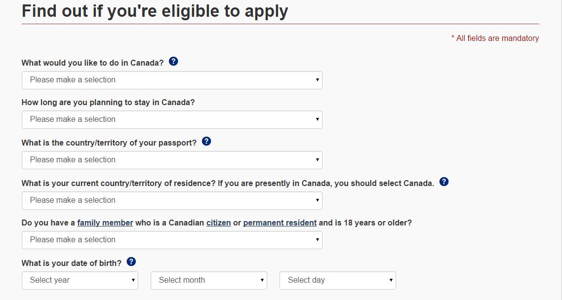 Dotazník WH Kanada část 1