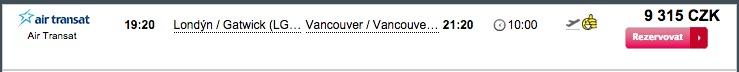 Kralovna letenka do Vancouveru za 9315kč