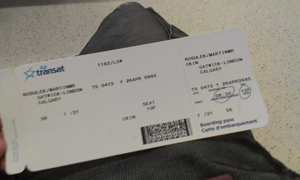 Letenka do Kanady