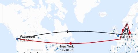 Letenky do Vancouveru z Prahy