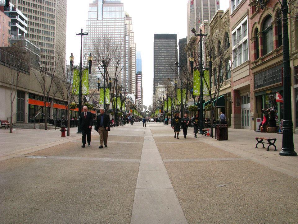 Pěší zóna downtown Calgary