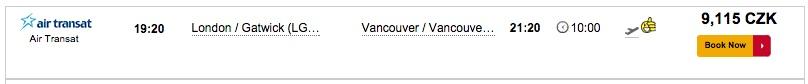 cestujlevne letenky do vancouveru za 9115
